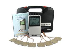 Twin Stim Plus Combo Quad Channel TENS Unit and Muscle Stimulator Unit with AC Adapter - 2nd Edition