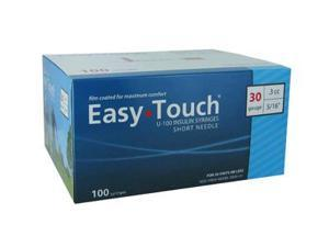Easy Touch Insulin Syringes 30 Gauge .3cc 5/16 in - 100 ea