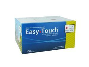Easy Touch Insulin Syringes 31 Gauge .5cc 5/16 in - 100 ea