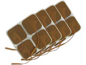 OTC TENS Electrodes 2x2 inch Square, Tan Mesh Backed - 4 Packs