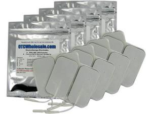 TENS Unit Electrode Pads, White Foamed Backed, 2x3.5 inch Rectangle - 16 ea