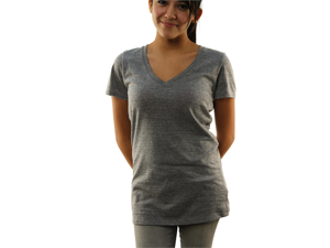 "Roxy Women's ""Waterfall"" V-Neck T-Shirt Gray 467388R-GGR-Large"