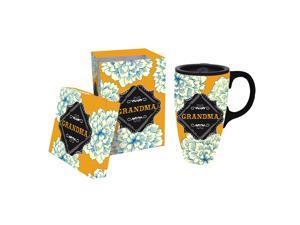 Chalk Garden Grandma Ceramic Title Latte Travel Mug