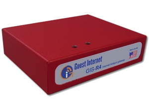 Guest Internet GIS-R4 Internet access gateway 100 concurrent users 4-port switch