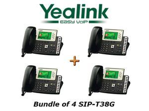 Yealink SIP-T38G, Bundle of 4 Gigabit Color VoIP Phone SIP-T38G