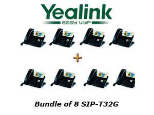 Yealink SIP-T32G - Bundle of 8 Gigabit Color IP Phone SIP-T32G