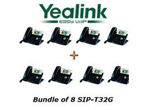 Yealink SIP-T32G - Bundle of 8 Gigabit Color IP Phone SIP-T32G