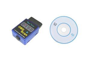 CY-B06 Mini ELM327 V1.5 Bluetooth OBD2 OBD-II Diagnostic Tool to Scan Vehicle Computer and Check Engine ECU and Display Current ...