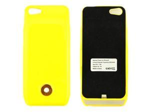 For Apple iPhone 5 Yellow 2800mAh Portable External Backup Battery Power Bank Case Great for Travel