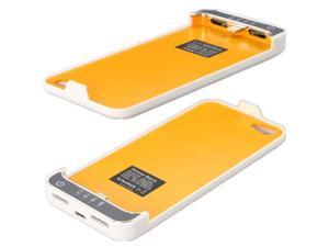 For Apple iPhone 5 2200mAh Portable External Backup Battery Power Bank Case - White
