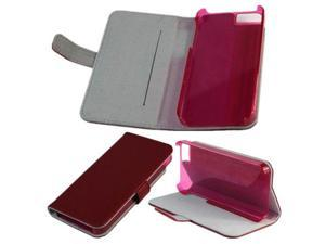 Fashionable Red Leather Case Cover Perfect-fit for iPhone 5 Good Handle Feeling Full Body Protection