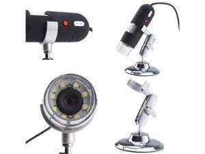 2MP USB Digital Microscope Endoscopes Magnifier 40X~800X with 8 LED Lights Focus Range From 10mm to 250mm For Industrial ...