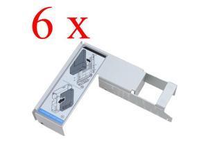 "6 pcs 2.5"" Adapter Bracket for Dell 3.5"" F238F SAS/SATA Hard Drive Tray/Caddy + Screws"
