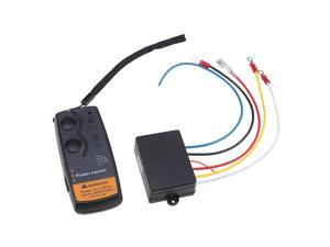 Electric Winch Wireless Remote Control System Incluede Wireless Receiver with Remote Handset for All 12 Volt Solenoid Operated ...