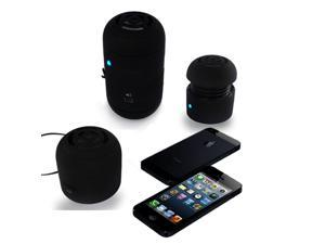 Black Mini Boom Small Mobile Portable 2.0 Stereo Speaker For iPod iPhone iPad Galaxy Computer MP3 Tablet Laptop
