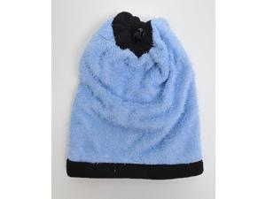 New Women's Blue Solid 2-in-1 Head and Neck Warmer LS1020