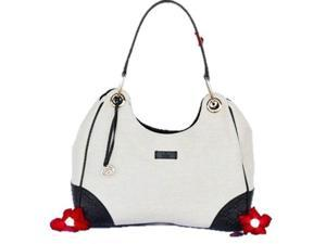 Gucci Handbag 257265 Colbert Canvas Hobo - White/Black