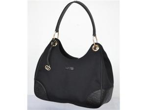 Gucci 257265 Colbert Canvas Hobo Handbag Shoulderbag - Black/Black