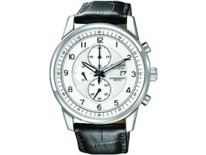 Citizen Eco-Drive Chronograph White Dial Stainless Steel Mens Watch CA0331-05A