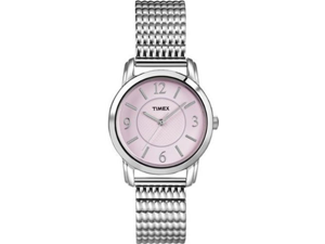 Timex Women's T2N846 Silver Stainless-Steel Quartz Watch with Pink Dial