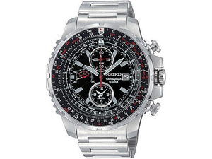 Seiko Men's Slide-rule Alarm Chronograph watch #SNAD05