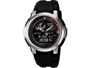 Casio Men's AQF102W-1BV Black Resin Quartz Watch with Black Dial
