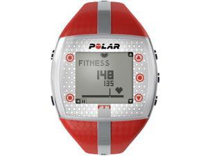 Women's Polar Heart Rate Monitor Fitness Watch Ft7F Red/Silver