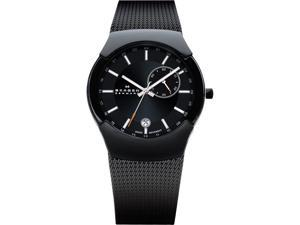 Skagen Swiss Black Label GMT Dual Time Black Dial Men's watch #983XLBB