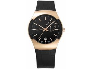 Skagen Black Label Black & Rose-gold GMT Black Dial Men's watch #983XLRLDB