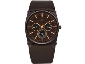 Skagen Men's 759LDRD Brown Dial With Rose Gold Markings Watch
