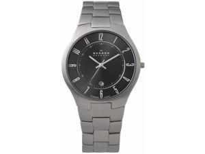 Skagen Grey Titanium Links Mens Watch 801XLTXM