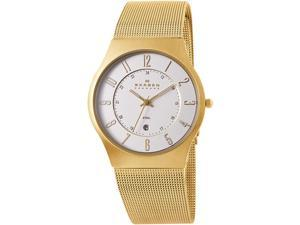 Skagen Gold-Tone Mesh Mens Watch 233XLGG
