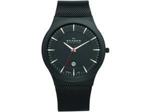 Skagen Men's 234XXLTB Black Titanium Watch Watch