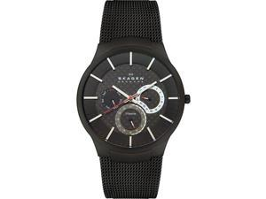 Skagen Black Titanium Multifunction Mens Watch 809XLTBB