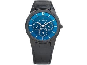Skagen Leather Blue Dial Men's watch #856XLBLN