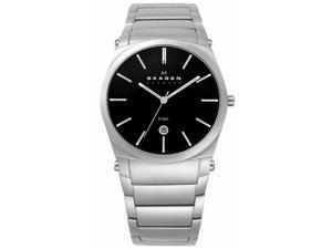 Skagen Steel Collection Black Dial Men's Watch #859LSXB