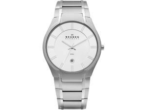 Skagen White Dial Stainless Steel Mens Watch 573XLSXS