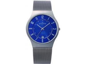 Men's Skagen Titanium Thin Mesh Band Watch 233XLTTN