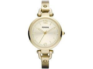 Fossil Women's Georgia ES3084 Gold Stainless-Steel Quartz Watch with Gold Dial