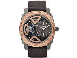 Fossil Twist Skeleton Charcoal Dial Rose Gold-Tone Mens Watch ME1122
