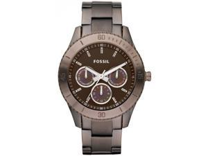Fossil Women's Boyfriend ES3021 Brown Stainless-Steel Analog Quartz Watch with Brown Dial