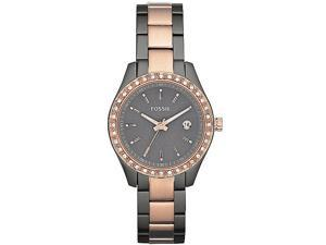 Fossil Women's Delicate ES3032 Two-Tone Stainless-Steel Analog Quartz Watch with Grey Dial