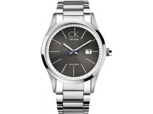 Calvin Klein Men's K2246107 Silver Stainless-Steel Quartz Watch with Silver Dial