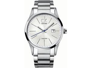 Calvin Klein Men's Men's Bold K2246120 Silver Stainless-Steel Quartz Watch with Silver Dial