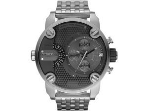 Diesel SBA Dual Time Chronograph Grey Dial Stainless Steel Mens Watch DZ7259