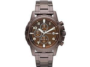 Fossil Men's FS4645 Brown Stainless-Steel Analog Quartz Watch with Brown Dial