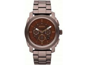 Fossil Machine Chronograph Brown Dial Brown IP Stainless Steel Mens Watch FS4661