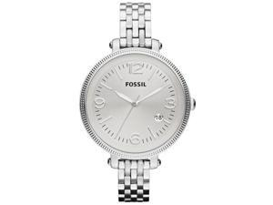 Fossil Women's Heather ES3129 Silver Stainless-Steel Quartz Watch with Silver Dial