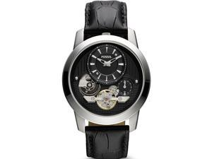 Fossil Twist Black Croc   Leather Mens Watch ME1113