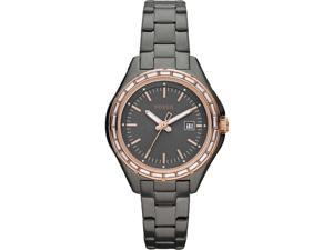 Fossil Women's Dylan AM4397 Grey Stainless-Steel Quartz Watch with Grey Dial